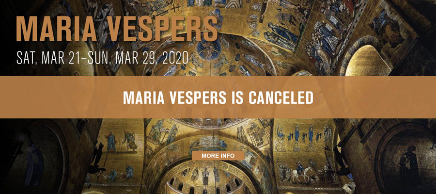 Maria Vespers is Canceled